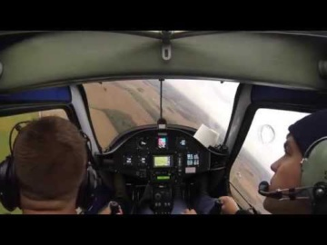 Student Pilot maneuvering practice with toilet paper